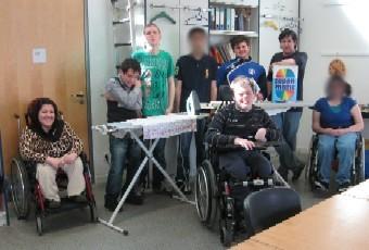 Mitarbeiter des Wäscheprojektes 2010 der Klasse W3
