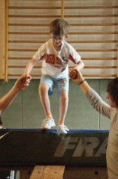 Daniel in Aktion beim Prima-Sport!