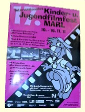 Plakat des Internationalen Kinder- und Jugendfilmfestivals in Marl