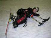 Eine kleine Verschnaufspause in der Skihalle in Bottrop