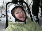 Auch Max durfte das Skifahren in Bottrop ausprobieren.