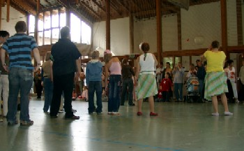 in der Turnhalle