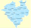 Landkartengrafik von den Kreisen im LWLeinzugsgebite