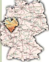 Das Bild zeigt eine Karte der Region Westfalen-Lippe