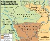 Download der Karte naturräumliche Großlandschaften Westfalens