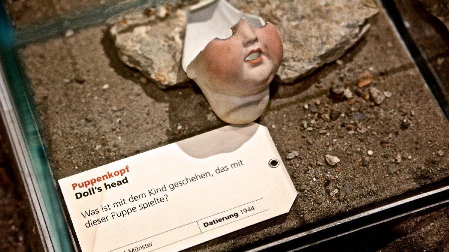 Puppenkopf aus dem Zweiten Weltkrieg