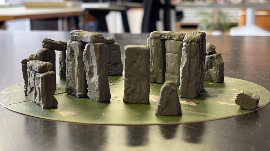 Aufgebautes Modell von Stonehenge
