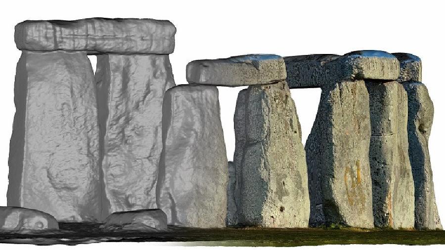 Visualisierung der 3-D-Scans von Stonehenge