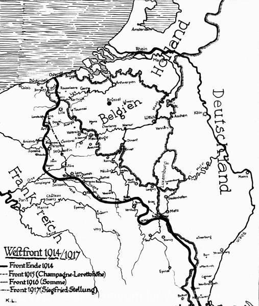 Westfront 1 Weltkrieg Karte.Mza 527 Der Erste Weltkrieg Karten Und Ereignisse