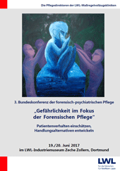 Grafik: Titelseite des Programms der 3. Bundeskonferenz der forensischen Pflege