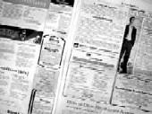 Foto einer Zeitungsanzeige