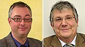 Porträtfotos von Pfarrer Karsten Herbers und Ingo Bontempi