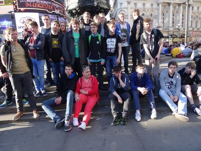 Gruppenfoto am Picadilly Circus