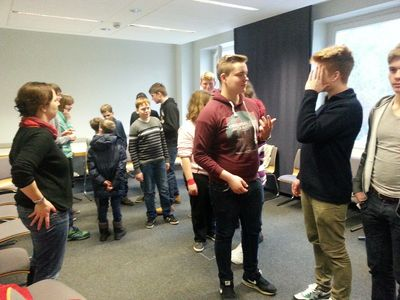 Auch Spiele mit Bewegung im Tagungsraum gehörten zum Programm!