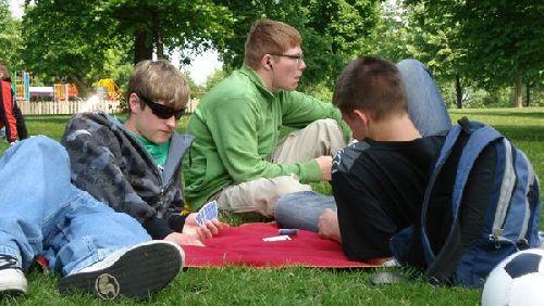 Karten zocken im Hyde Park