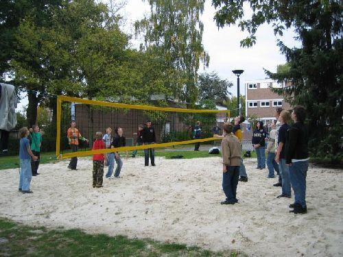 Das neue Beach-Volleyballfeld wurde eingeweiht!