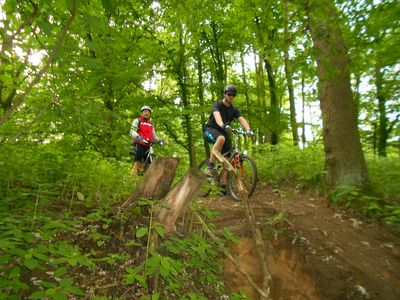 Auch in M�nster gibt es Mounntain-Bike-Trails!