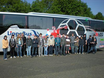 Wir fuhren mit dem Bundesligabus der HSG Ahlen Hamm!!!