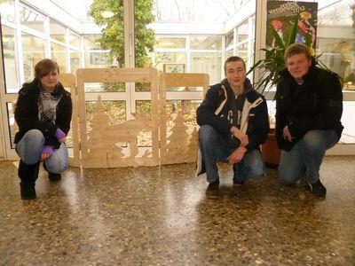 Zu Recht stolz auf die geleistete Arbeit: Jana, Michel und Marco