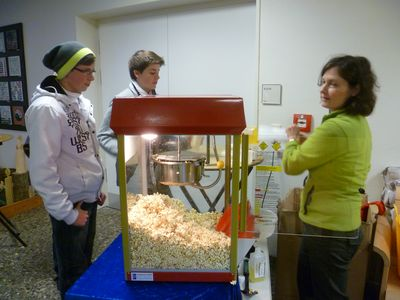 Kino-Feeling mit frischem Popcorn