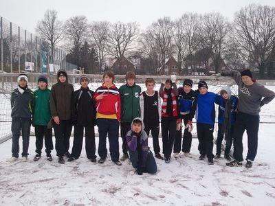 Die Fussball-AG bei Schnee