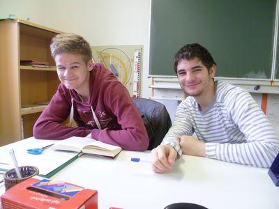Auch Fabian und Maurice lasen vor. Ihr Buch: Ziemlich beste Freunde!