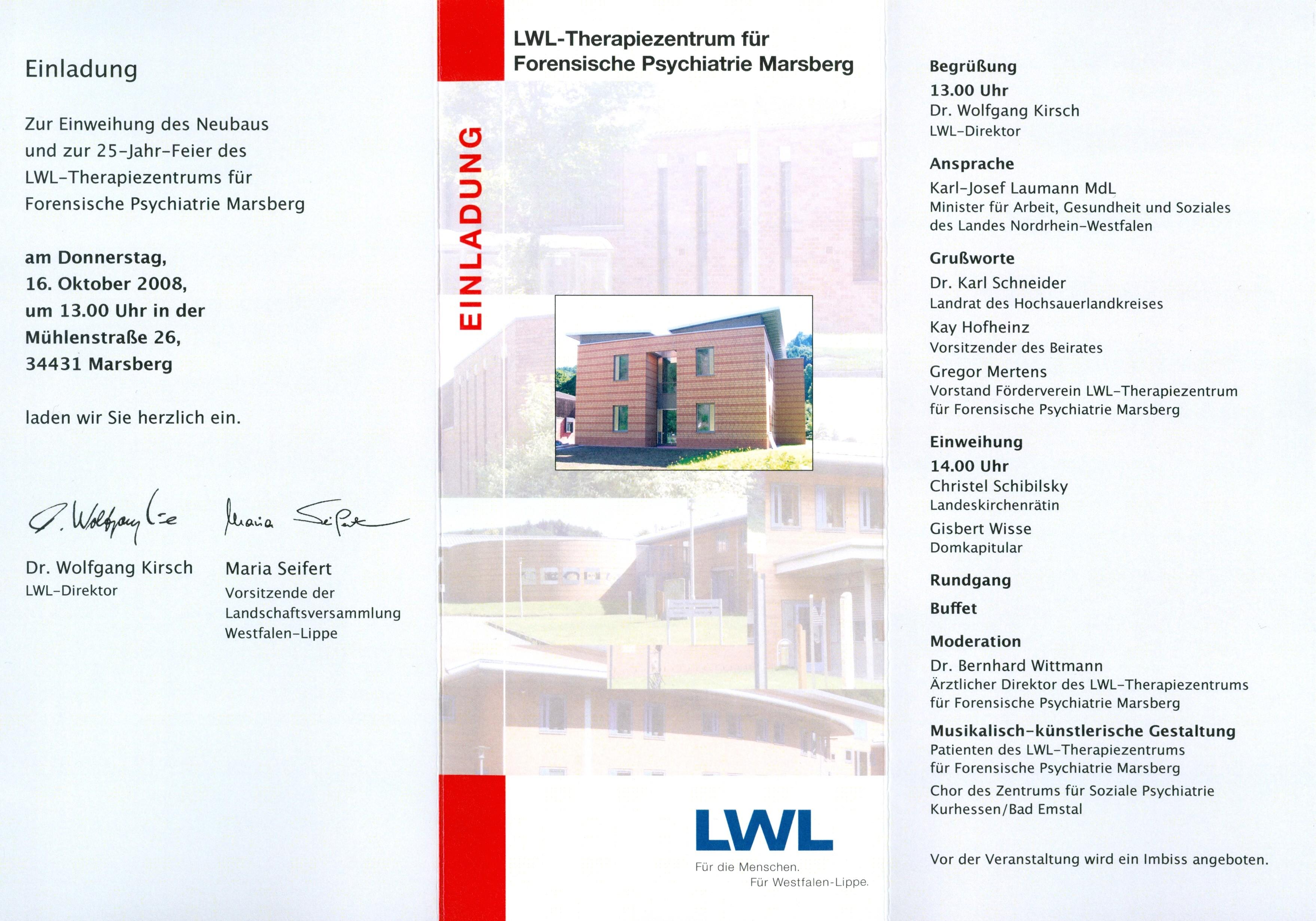 lwl-presse-info - marsberg: presse-einladung - mitteilung 09.10.08, Einladung