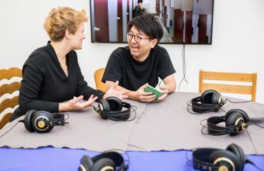 Die Videoinstallation von Koki Tanaka in der Sammlung des LWL-Museums für Kunst und Kultur.<br>Foto: LWL/Chris Steinweg, 2018.