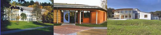 Das Foto zeigt drei LWL-Tageskliniken.