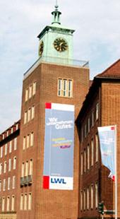 Das Foto zeigt das Landeshaus in Münster.