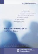 Das Foto zeigt das Titelbild der Broschüre ''Doch eine Depression ist mehr als das ...''.