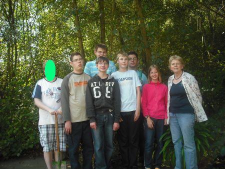 Schüler der Gartengruppe