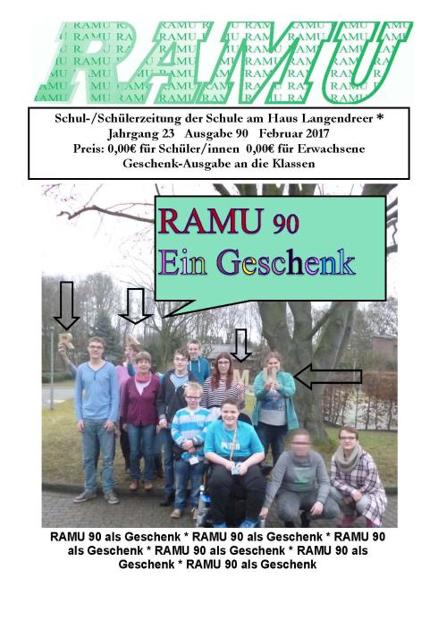 Schülerzeitung der Schule am Haus Langendreer Jahrgang 21 Ausgabe 84