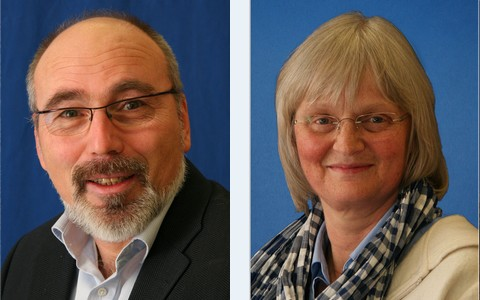 Hier sind der Schulleiter Herr Zöllner und die stellvertretende Schulleiterin Frau Eikenbusch zu sehen.