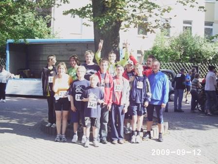 Dieses Bild zeigt die Läufergruppe der Schule am Weserbogen