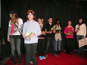 SchülerInnen unserere Schule bei der Preisverleihung