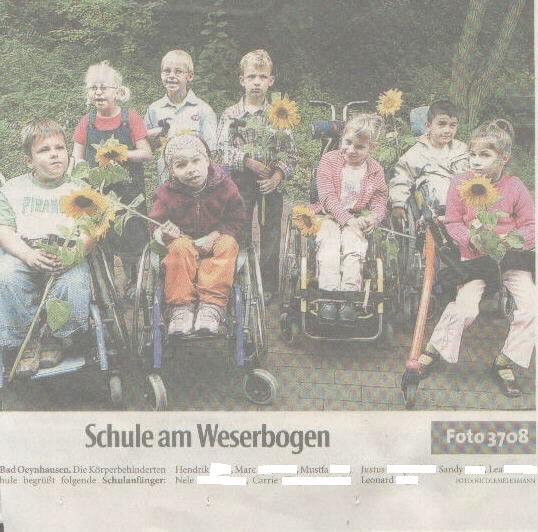 Die Presse begrüßt unsere Schulanfänger 2005/2006