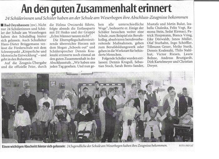 Neue Westfälische 12.06.2007
