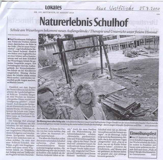 Naturerlebnis Schulhof.