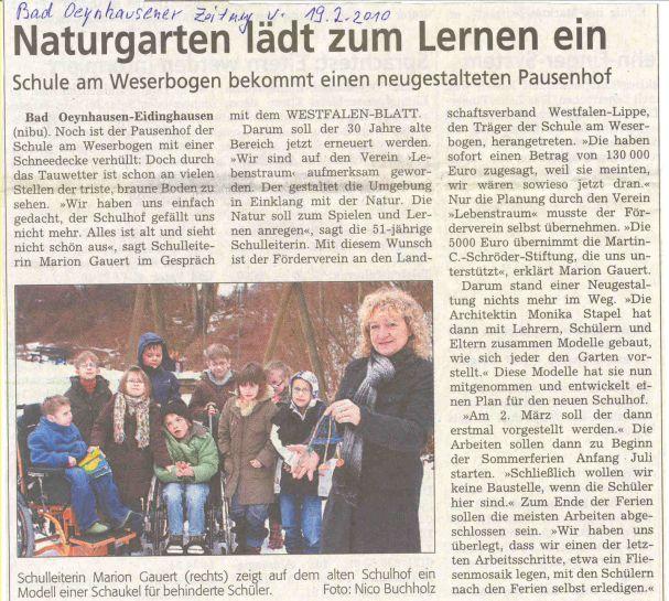 Westfalenblatt vom 19.02.2010