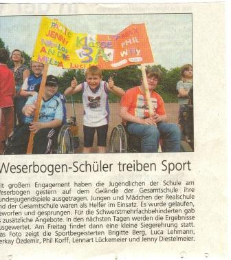 Presssebericht des Westfalenblattes vom 9.6.2010