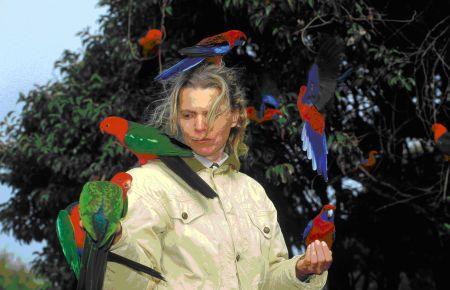 Frau Hofer im Regenwald in Australien