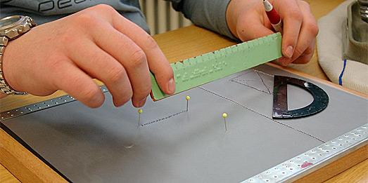 Geometrisches Arbeiten am Zeichenbrett