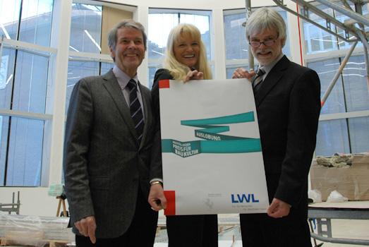 Pressetermin im Plenarsaal des Landeshauses Westfalen-Lippe zur Auslobungsveranstaltung zum Westfaelischen Preis fuer Baukultur