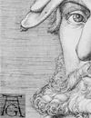 Selbstbildnis Heinrich Aldegrevers  (Ausschnitt und Montage) / Soest, Burghofmuseum; Foto: Münster, Westfälisches Landesmedienzentrum/O. Mahlstedt