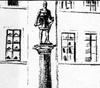 Schmuckblatt der Biografie von Carls Laumanns über Bernhard II. zur Lippe (1914) mit Entwurfszeichnung des Bernhard-Denkmals in Lippstadt (Ausschnitt)