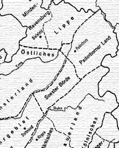 Blotevogel / Schöller: Regionale Gliederung des Landes Nordrhein-Westfalen (Ausschnitt)