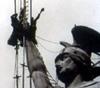 Restaurierung des Hermannsdenkmals, 1950/60er Jahre (Ausschnitt)