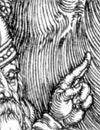 Ausschnitt aus dem Stich Aldegrevers 'Die Erschaffung Evas', 1540