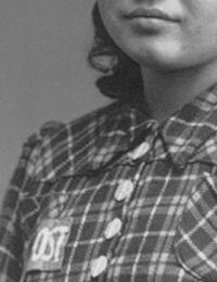 Bildnis der sowjetischen Zwangsarbeiterin Varwara Prokowjewa, Harsewinkel, um 1942 (Ausschnitt) / Toppmöller, Heinrich